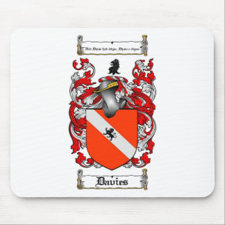 DAVIES FAMILY CREST -  DAVIES COAT OF ARMS MOUSE PAD