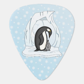 Davin and Annie the Penguins Guitar Pick