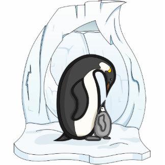Davin and Annie the Penguins Photo Sculpture