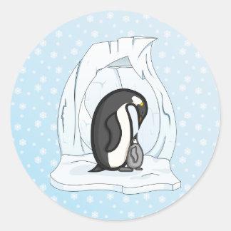 Davin and Annie the Penguins Sticker