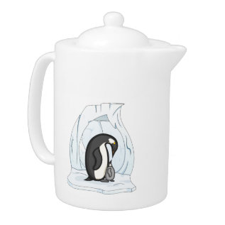 Davin And Annie The Penguins Teapot at Zazzle
