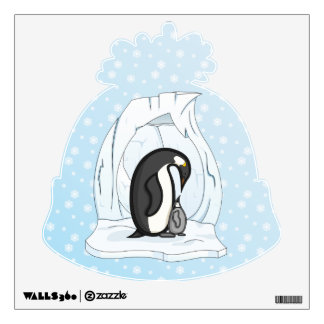 Davin and Annie the Penguins Wall Decal