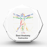 """DaVinci Anatomy Man in Chakra Colors Award<br><div class=""""desc"""">Our own version of Leonardo Da Vinci&#39;s classic, world famous illustration of human anatomy, called Vitruvian Man, looks so cool on a tshirt, iPhone case, or journal! And even better, we&#39;ve recreated it in the colors of the 7 main chakras! From root chakra to crown chakra, this is perfect for...</div>"""