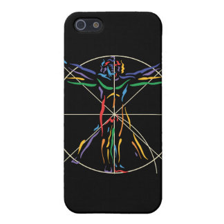 DaVinci Anatomy Man in Chakra Colors Cover For iPhone SE/5/5s