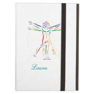 DaVinci Anatomy Man in Chakra Colors iPad Air Cover
