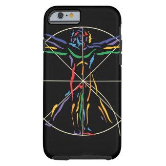 DaVinci Anatomy Man in Chakra Colors Tough iPhone 6 Case