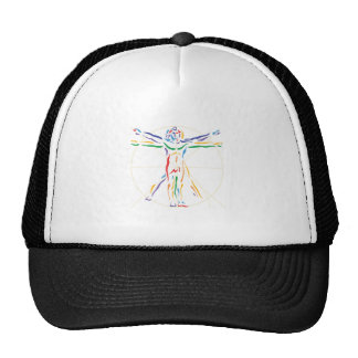 DaVinci Anatomy Man in Chakra Colors Trucker Hat