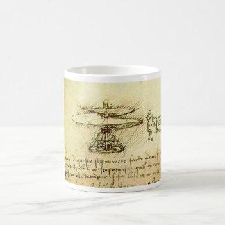 Davinci Helicopter design Coffee Mugs