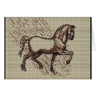 DAVINCI HORSE GREETING CARD