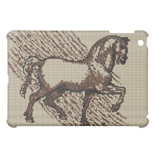 DAVINCI HORSE Cross Stitch Design iPad Mini Cases