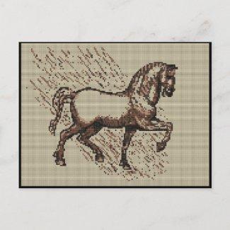 DAVINCI HORSE postcard
