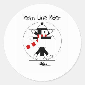 DaVinci LineRider Classic Round Sticker
