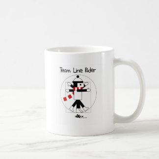 DaVinci LineRider Classic White Coffee Mug