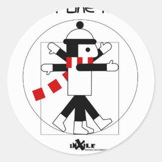 DaVinci LineRider Round Sticker