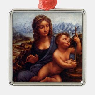 DaVinci Madonna of the Yarnwinder Metal Ornament