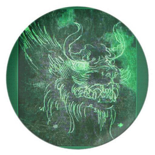 Davinci's Dragon Green Plate