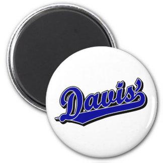 Davis en azul imán para frigorífico