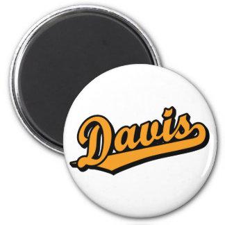 Davis en naranja iman de nevera