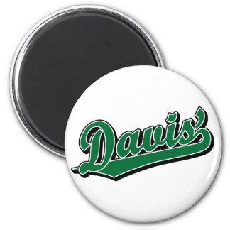 Davis en verde imanes para frigoríficos