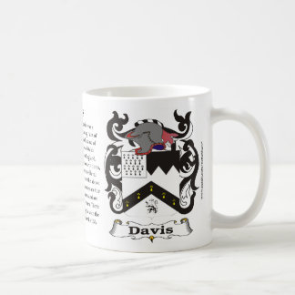 Davis Family Coat of Arms Mug