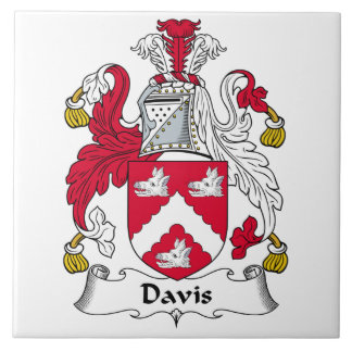 Davis Family Crest Ceramic Tiles