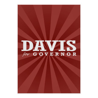 DAVIS FOR GOVERNOR 2014 POSTER
