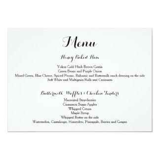 Davis + Harper Menu Card