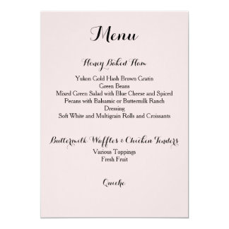 Davis + Harper Menu Card