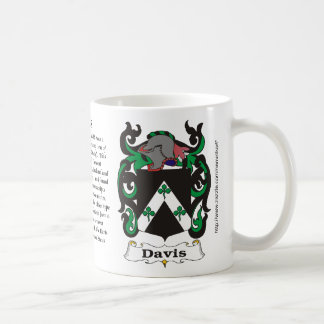 Davis, Origin, Meaning and the Crest Coffee Mug