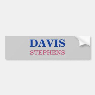 DAVIS, STEPHENS CAR BUMPER STICKER