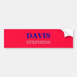 DAVIS, STEPHENS ETIQUETA DE PARACHOQUE