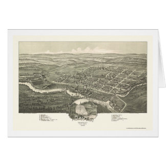 Davis, WV Panoramic Map - 1898 Greeting Card