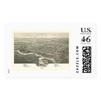 Davis, WV Panoramic Map - 1898 Stamps