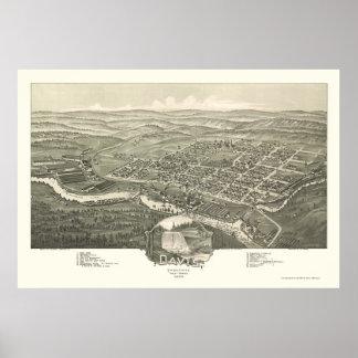 Davis, WV Panoramic Map - 1898 Print