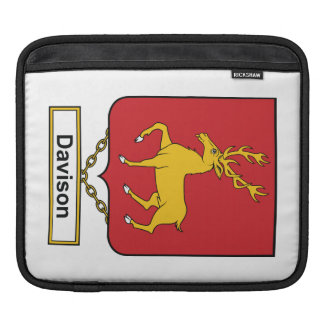 Davison Family Crest iPad Sleeves
