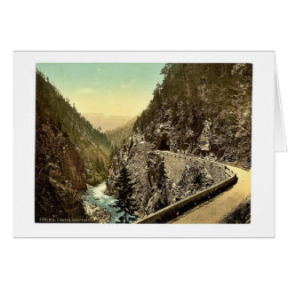 Davos, a part of the Landwasserstrasse, Grisons, S Greeting Card