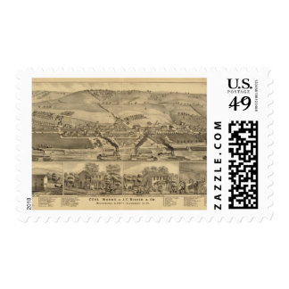 Davosburgh coal works postage stamp