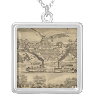 Davosburgh coal works silver plated necklace