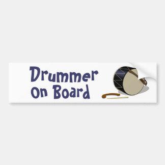 Davul Tupan Drummer On Board Bumper Sticker