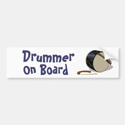 Davul Tupan Drummer On Board Bumper Sticker Car Bumper Sticker