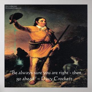"""Davy Crocket """"continúa…"""" Poster de la cita de la s"""