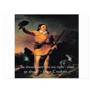 "Davy Crocket ""Go Ahead"" Wisdom Quote Postcard"