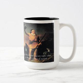 "Davy Crocket ""Go Ahead"" Wisdom Quote Two-Tone Coffee Mug"