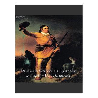 """Davy Crocket """"va a continuación"""" cita de la sabidu Postal"""