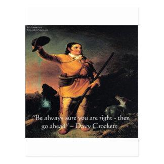 """Davy Crocket """"va a continuación"""" cita de la sabidu Tarjetas Postales"""