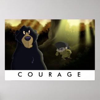 """Davy Crockett """"Courage"""" Print"""