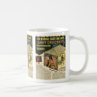Davy Crockett Playhouse Tent Coffee Mug