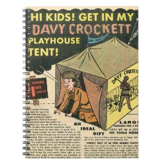 Davy Crockett Playhouse Tent Spiral Note Book