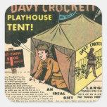 Davy Crockett Playhouse Tent Sticker