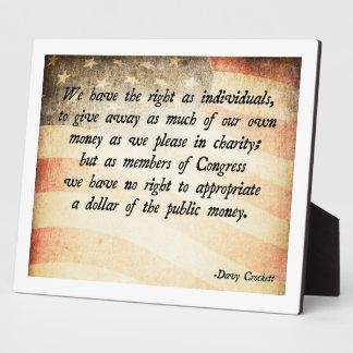 Davy Crockett Quote Display Plaque